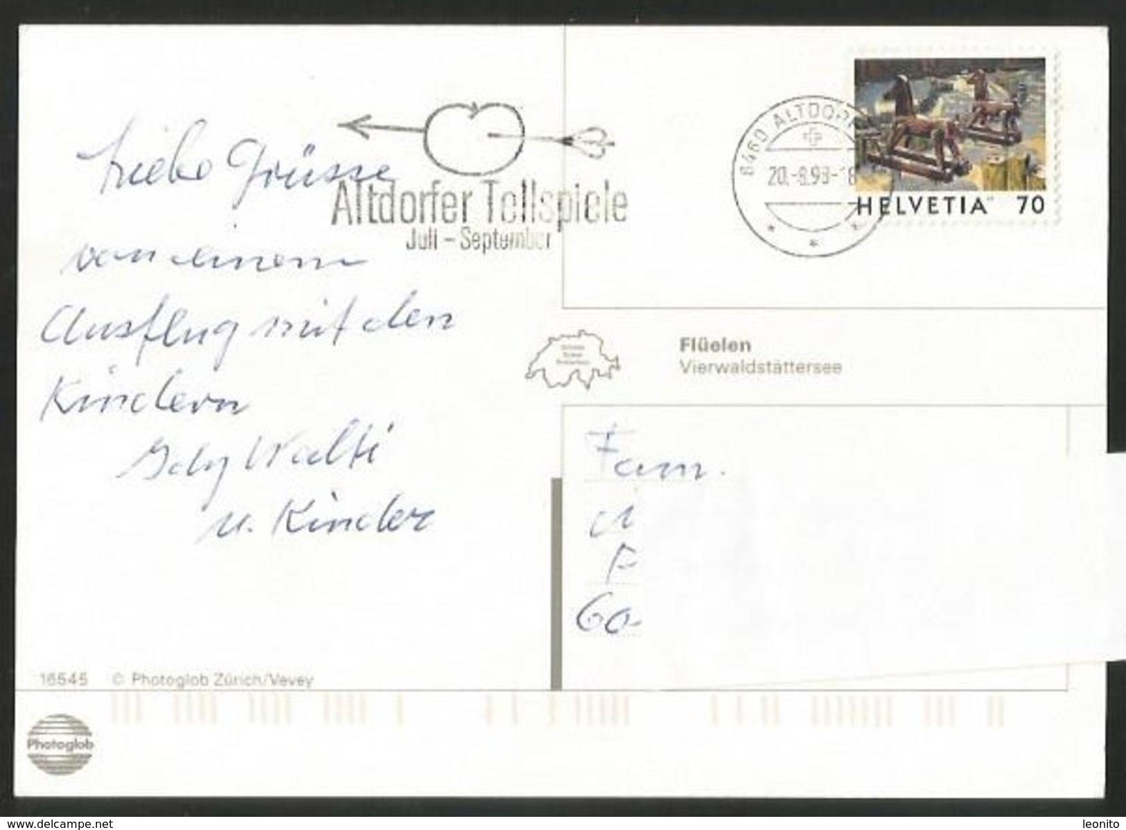 FLÜELEN UR Mit Bistro SCHIFFLÄNDI Altdorf 1998 - UR Uri