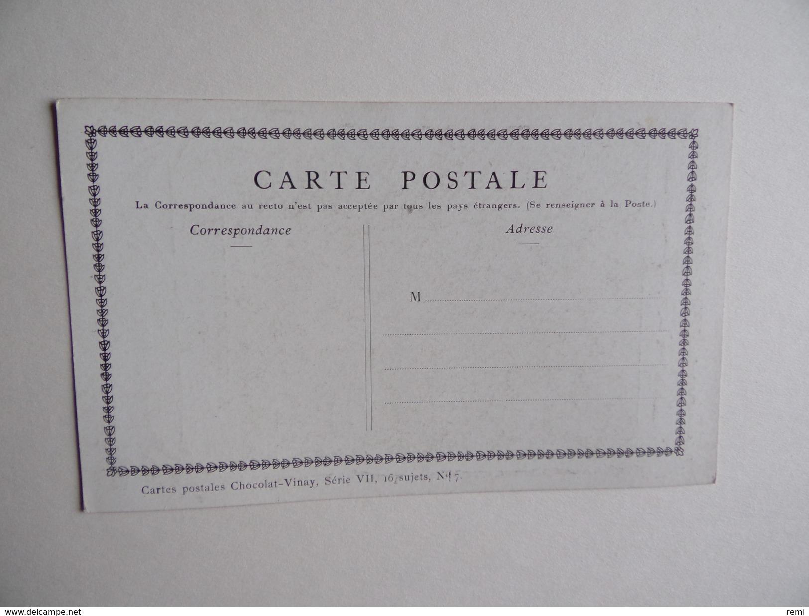 Carte Postale CHOCOLAT VINAY La Cuisinière Hollandaise Série VII 28 Sujets N° 17 - Publicité