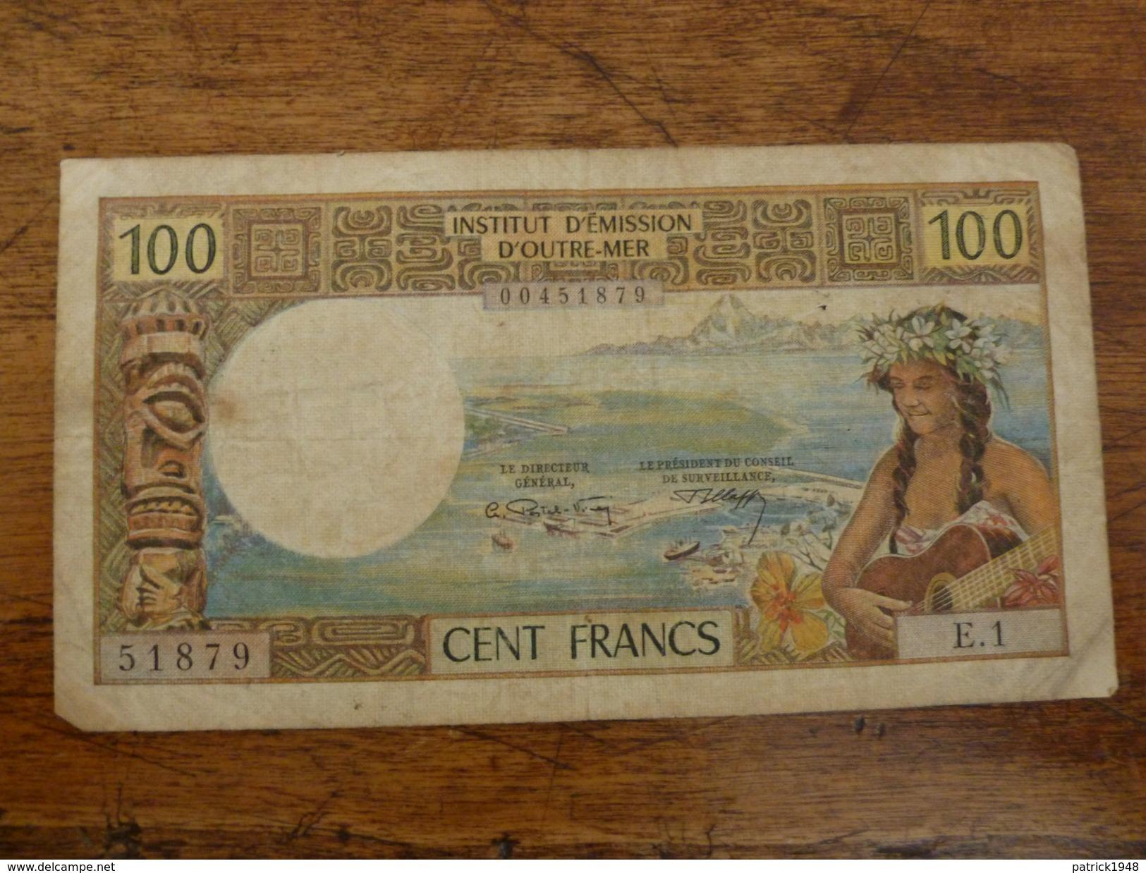 BILLET DE 100 FRANCS INSTITUT D'EMISSION D'OUTRE-MER NOUMEA - Nouméa (New Caledonia 1873-1985)