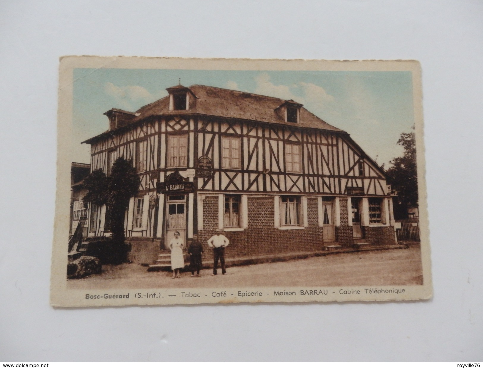 Bosc-Guérard, Tabac, Café, Maison Barrau, Cabine Téléphonique. - Francia