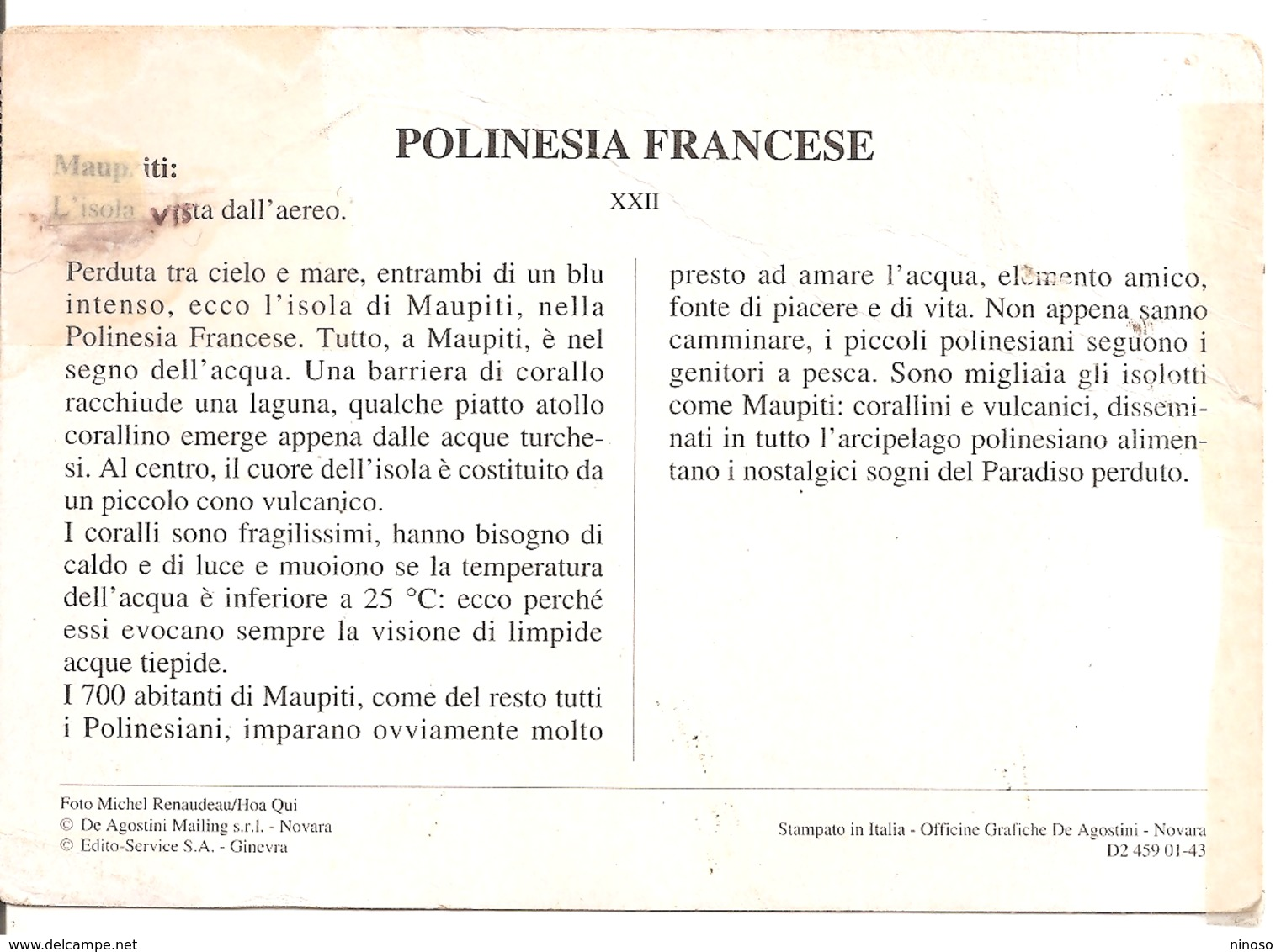 ISOLA MAUPITI - Polinesia Francese