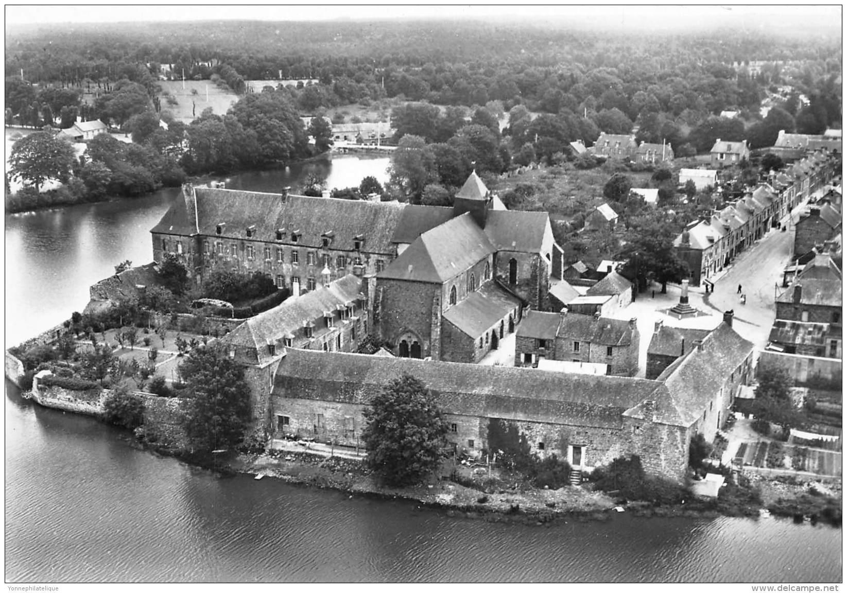 35 - ILLE ET VILAINE / Cpsm Cpm - Paimpont - Abbaye Et Rue Principale - Paimpont