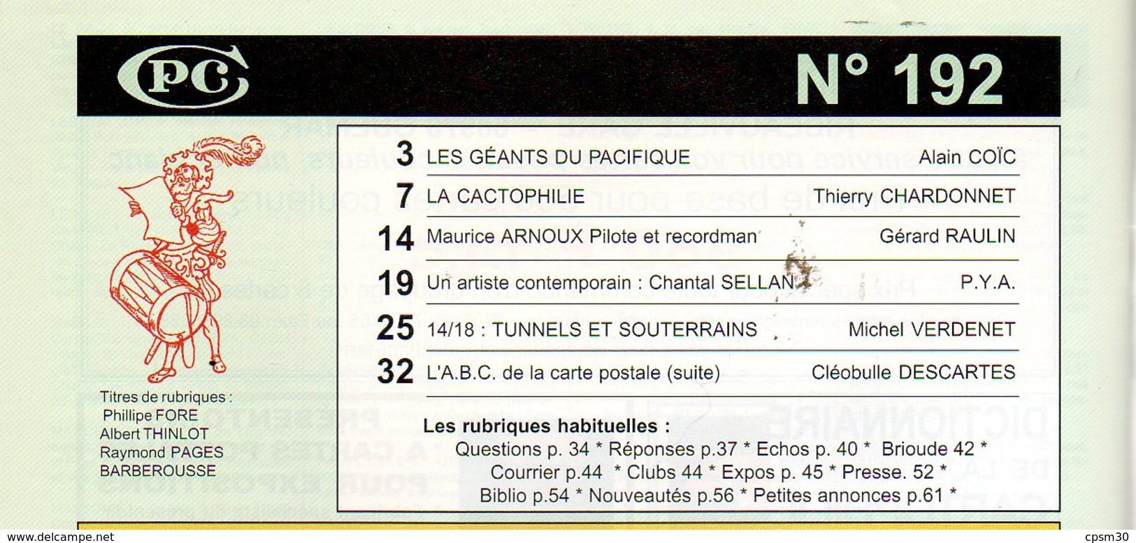 CPC N°192 - Arbres Géants Pacifique 4p; Les Cactus 7p; Avion Chasse 5p; Illustrateur Ch Sellan 6p; Tunnels Guerre 7pages - Français