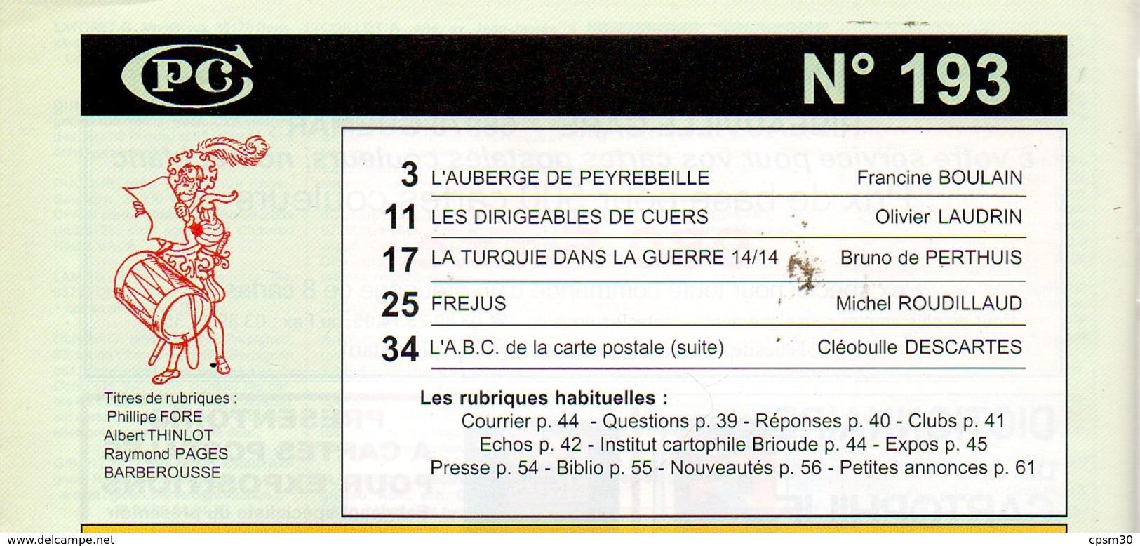 CPC N°193 - Fréjus 7p; Peyrebeille 8p; Dirigeable à Cuers 6p; Propagande Turque 8pages - Français