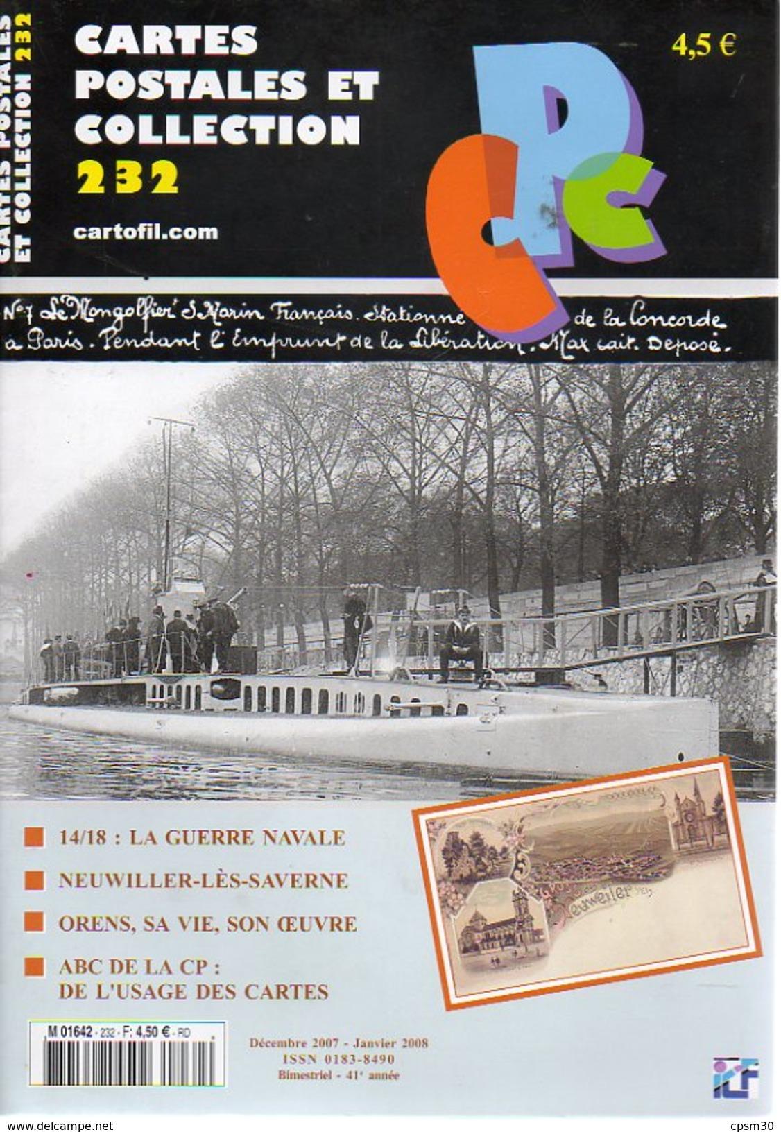 CPC N°232 - Neuwiller-les-Saverne 7p; ORENS 9p; Marine Guerre 8pages - Français