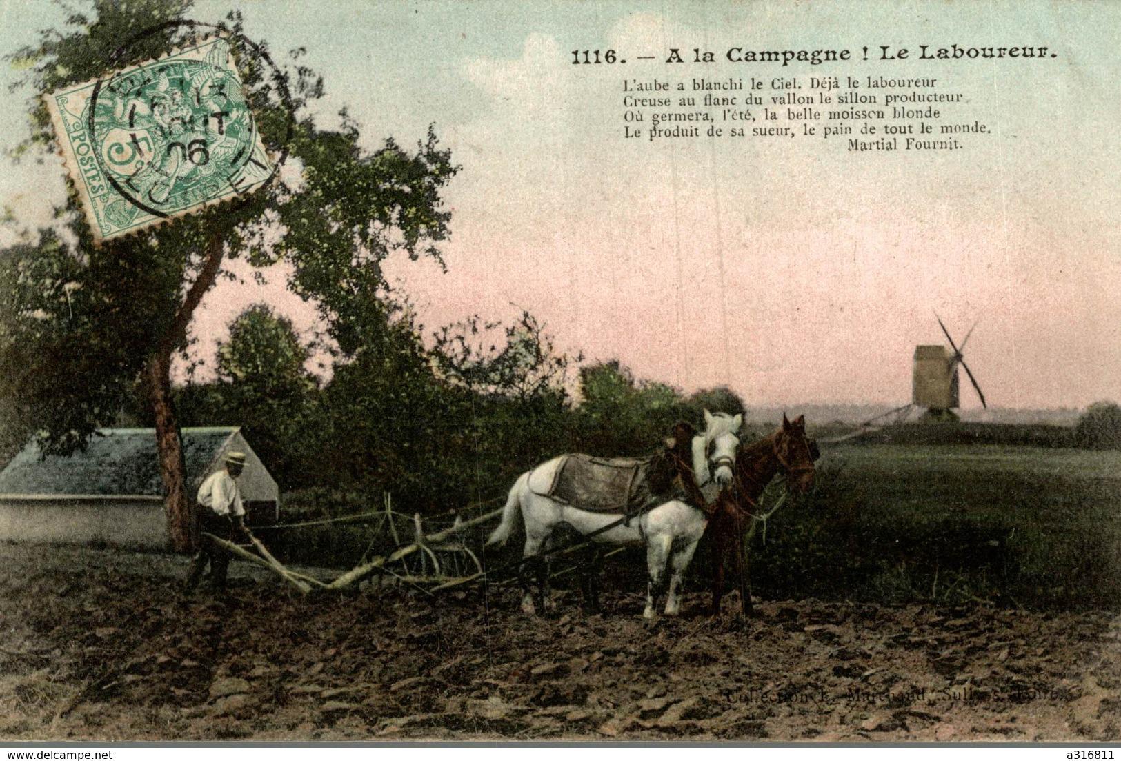 A LA CAMPAGNE  LE LABOUREUR - Cultures