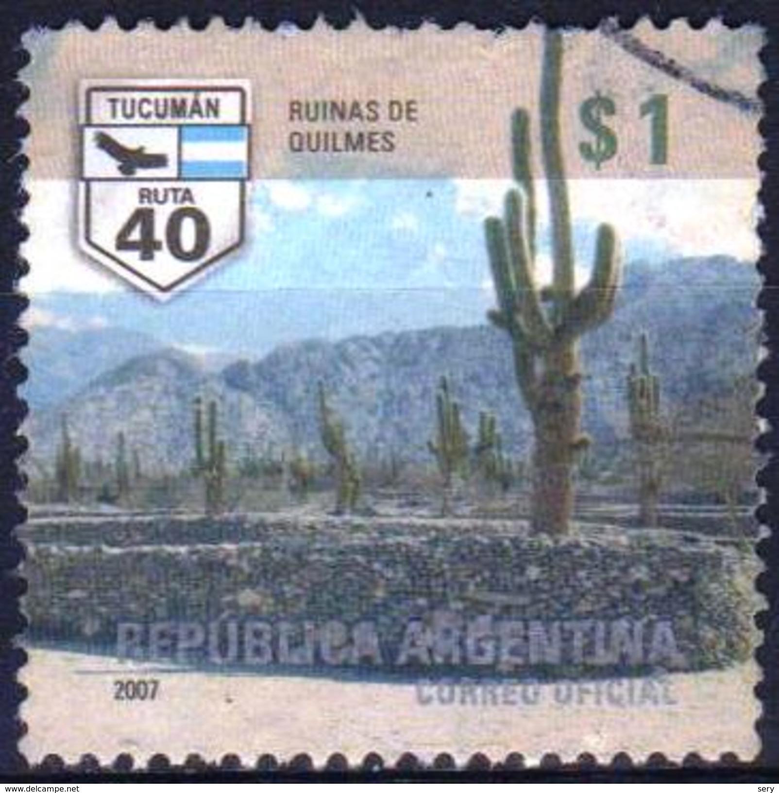ARGENTINA 2007 1 V   Used  Cactus - Cactus
