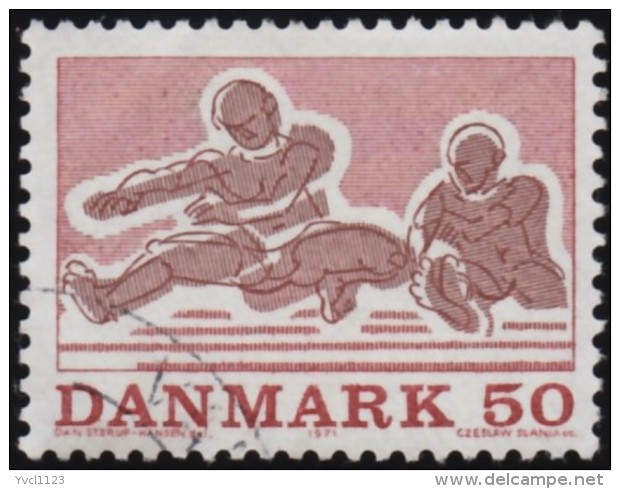 DENMARK - Scott #483 Athletics (*) / Used Stamp - Gymnastics