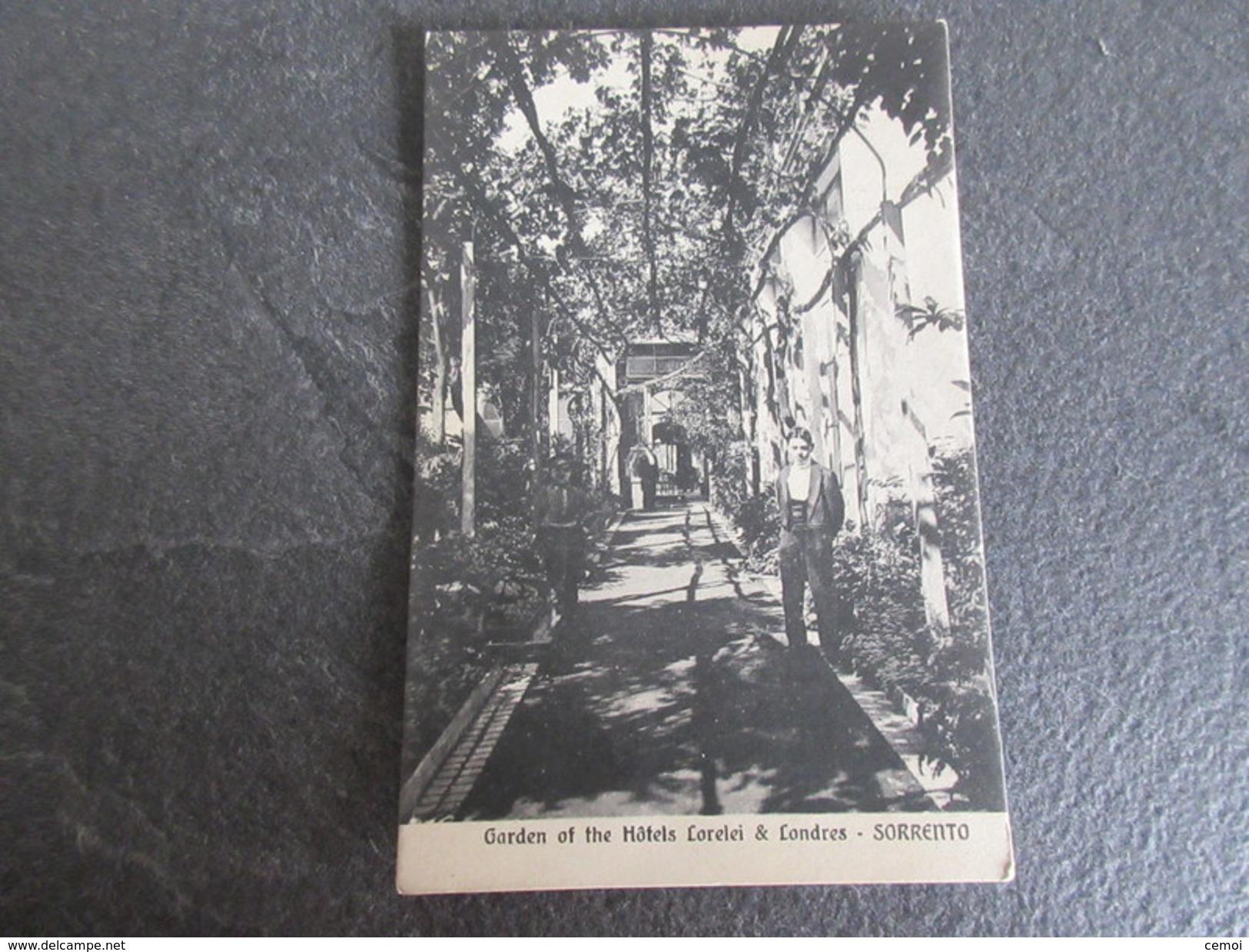 CPA Animée - Jardin Des Hôtels Lorelei & Londres - SORRENTO - Otras Ciudades