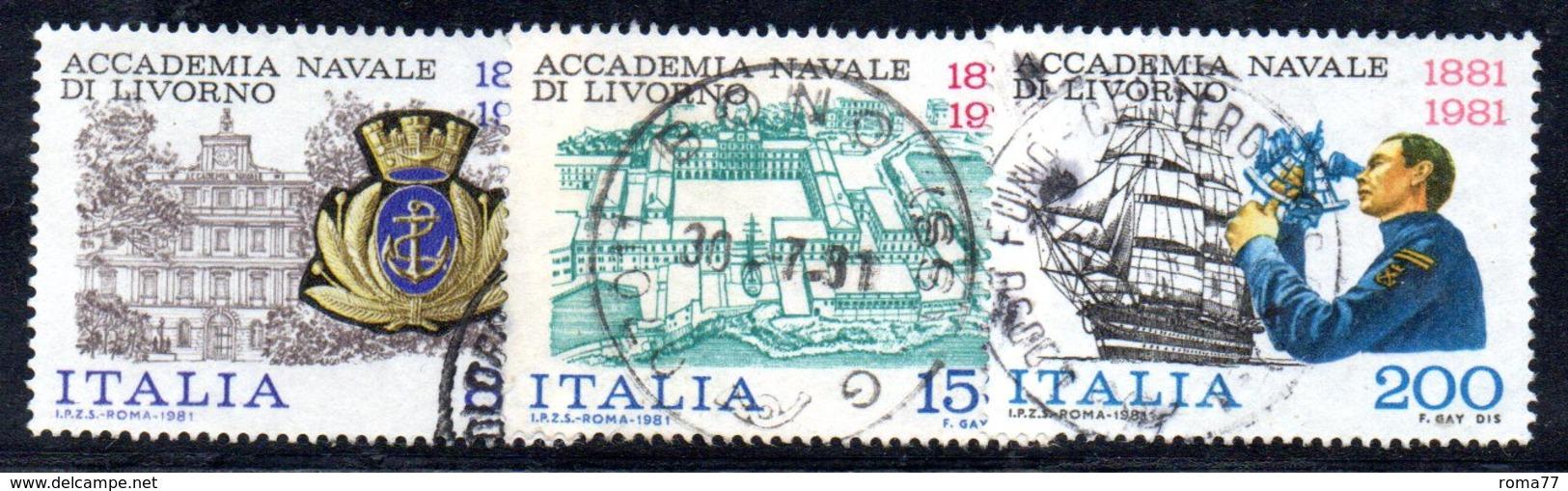 XP1654 - REPUBBLICA 1981, Serie Usata . ACCADEMIA LIVORNO - 6. 1946-.. Repubblica
