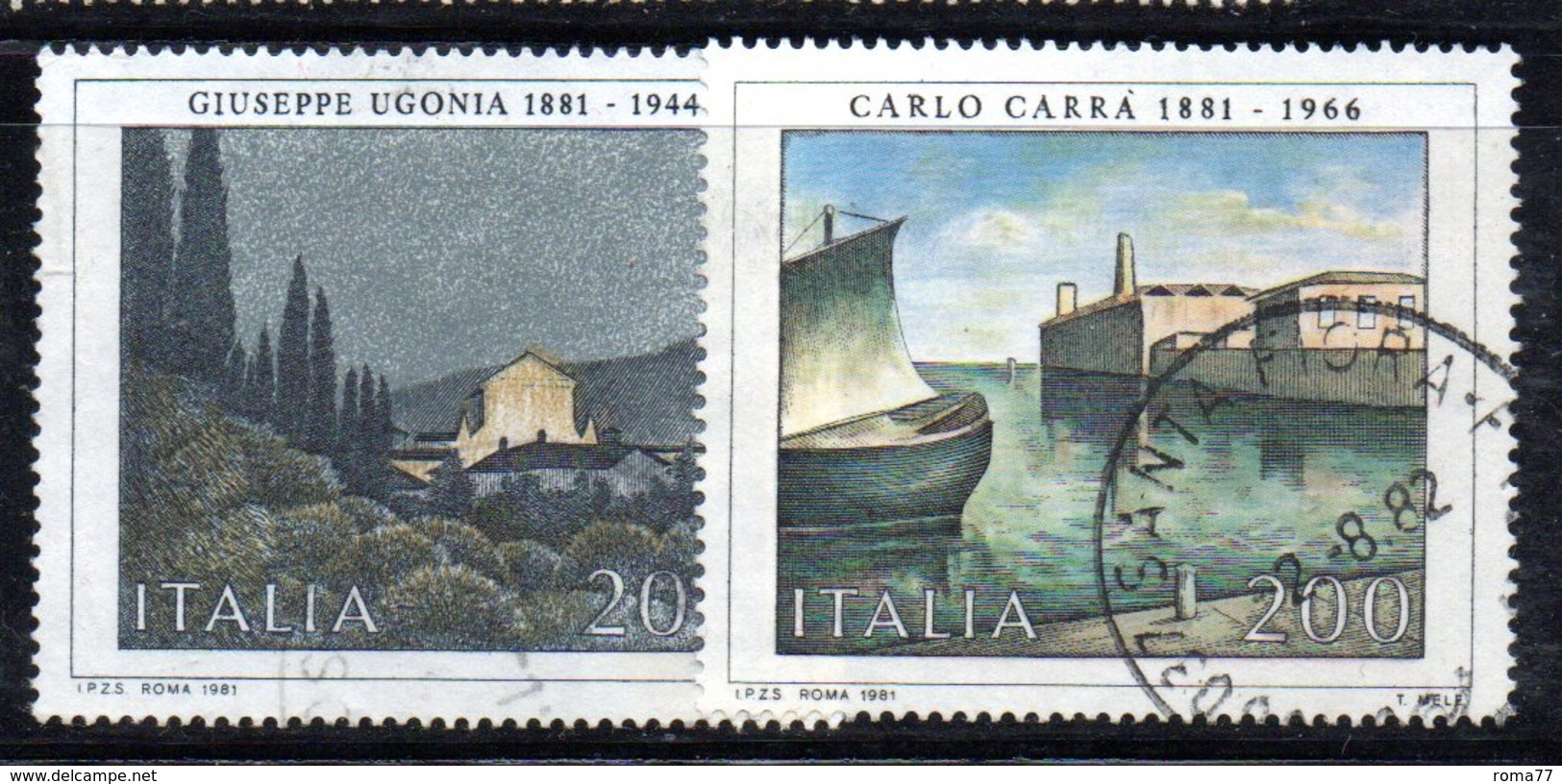 XP1659 - REPUBBLICA 1981, Serie Usata . ARTE - 6. 1946-.. Repubblica