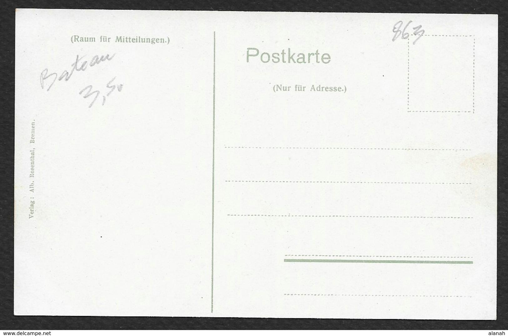 """Norddeutscher Lloyd-Dampfer """"KAISER WILHEM DER GROSSE"""" (Rosenthal) - Paquebots"""