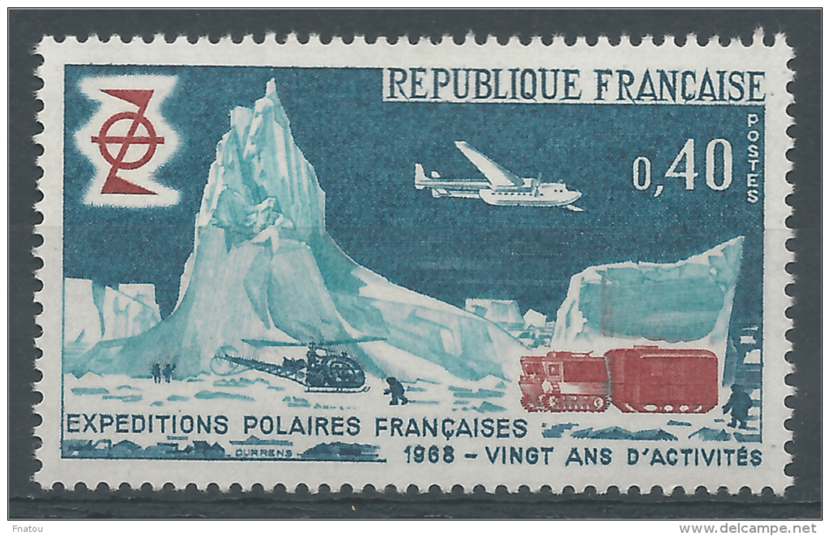 France, French Polar Expeditions, 20th Anniv., 1968, MNH VF - France