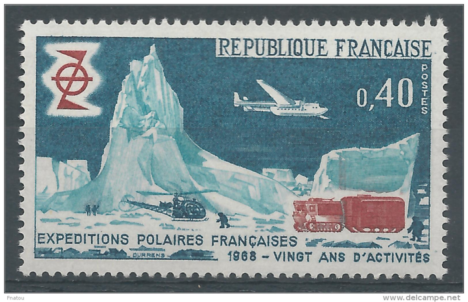 France, French Polar Expeditions, 20th Anniv., 1968, MNH VF - Frankrijk