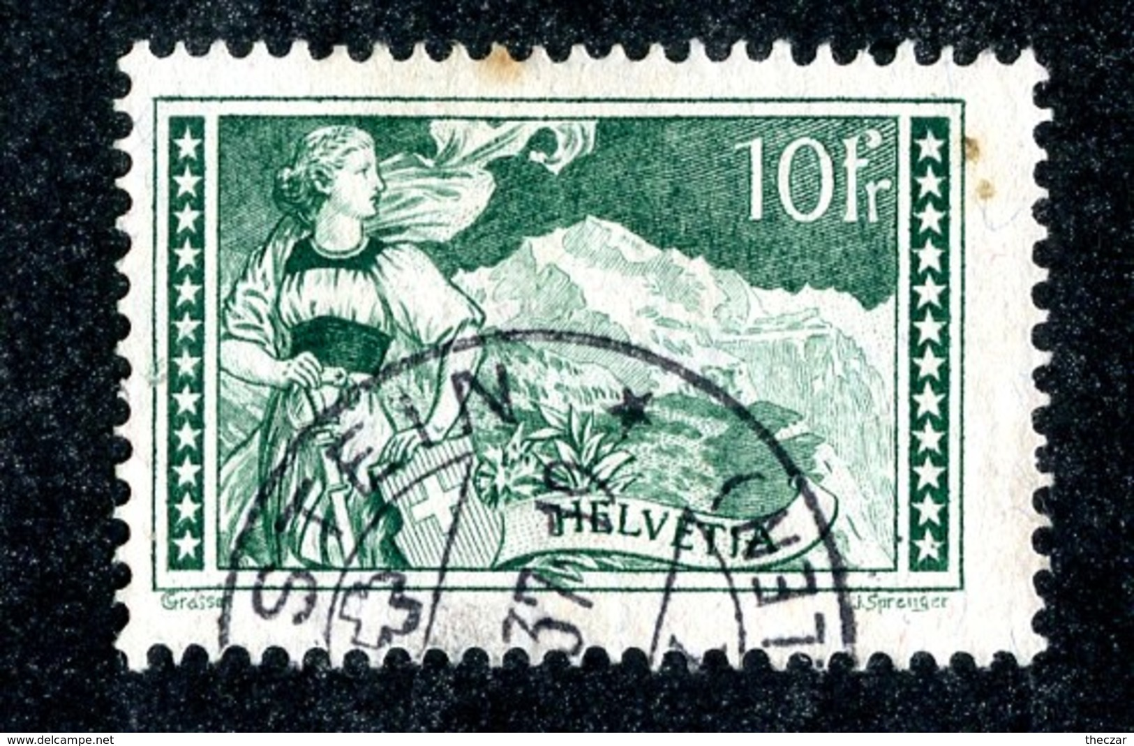 11317 -the Czar- Switzerland 1931  Michel # 228 (o)  (cat.€50.) Offers Welcome! - Suisse