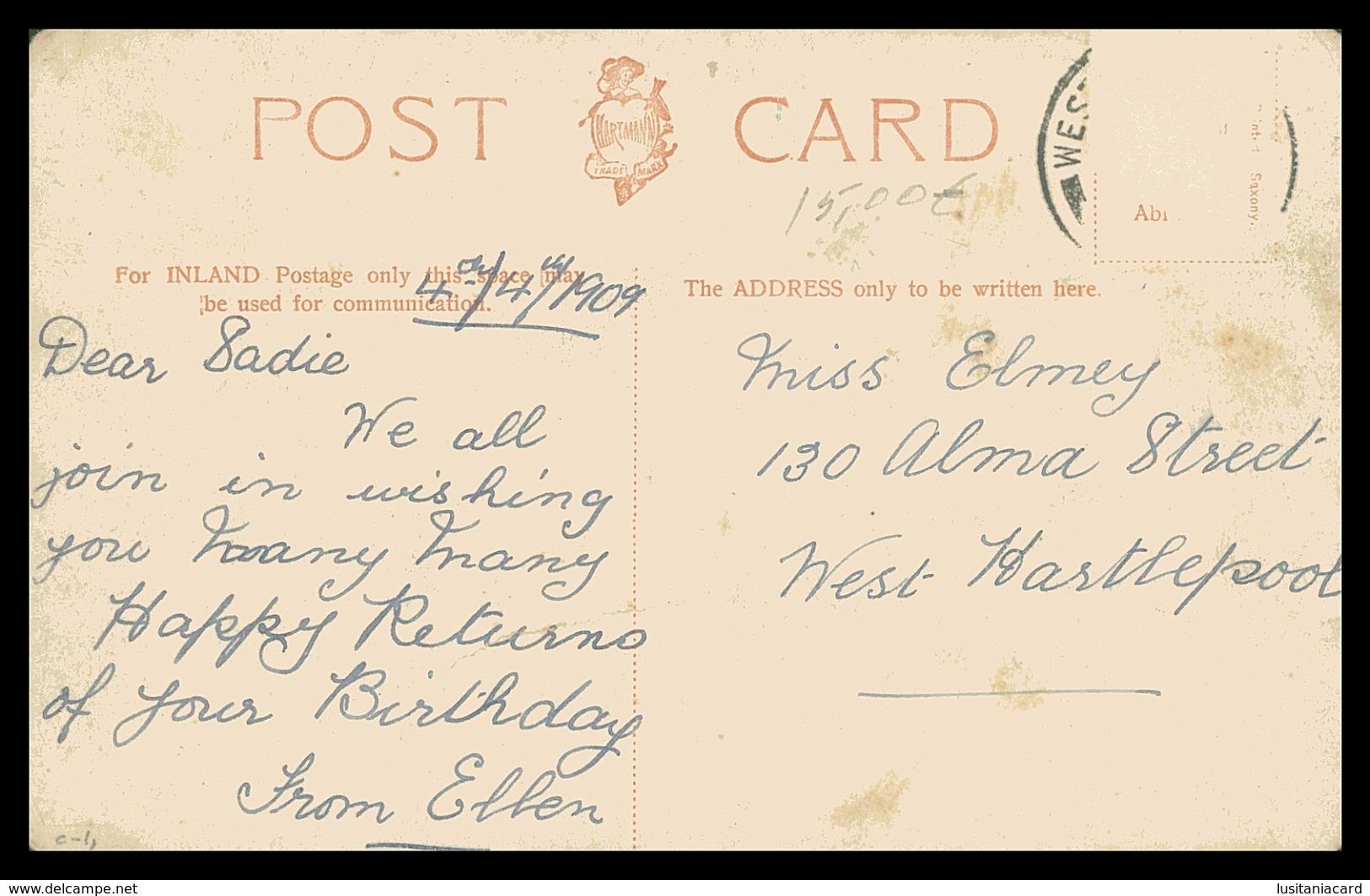INGLATERRA -SUSSEX - WORTHING- Montague Place .carte Postal - Worthing