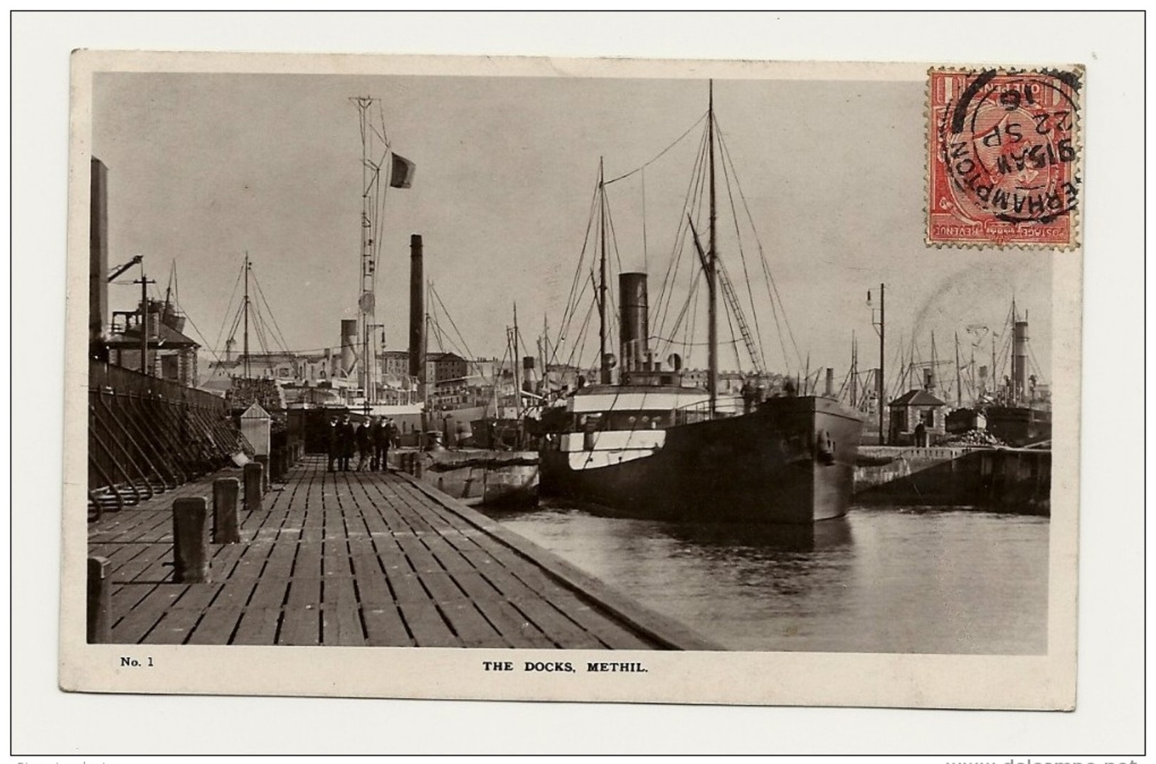 Royaume Uni écosse The Docks Methil Boat Bateau De Commerce 2 Scans - Scozia