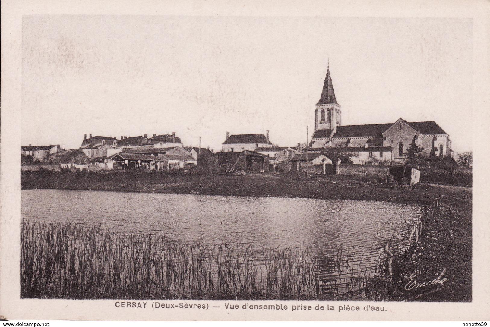 CERSAY - Vue D'ensemble Prise De La Pièce D'eau - Autres Communes