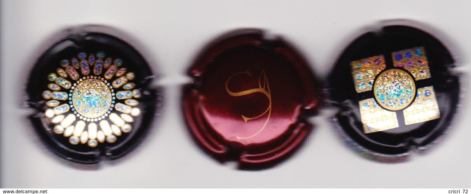 3 Capsules Muselets  1 Champagne Sanger 2 Bijoux Vouvray - Capsules & Plaques De Muselet
