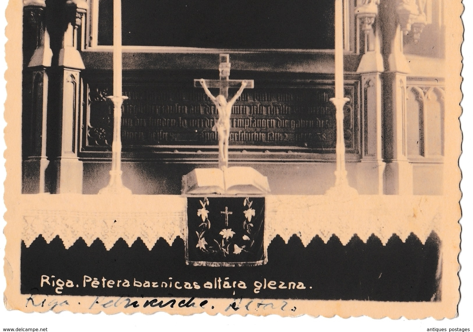 Carte Postale Riga Lettonie 1935 Pour La Belgique Latvija Carte Photo - Letland
