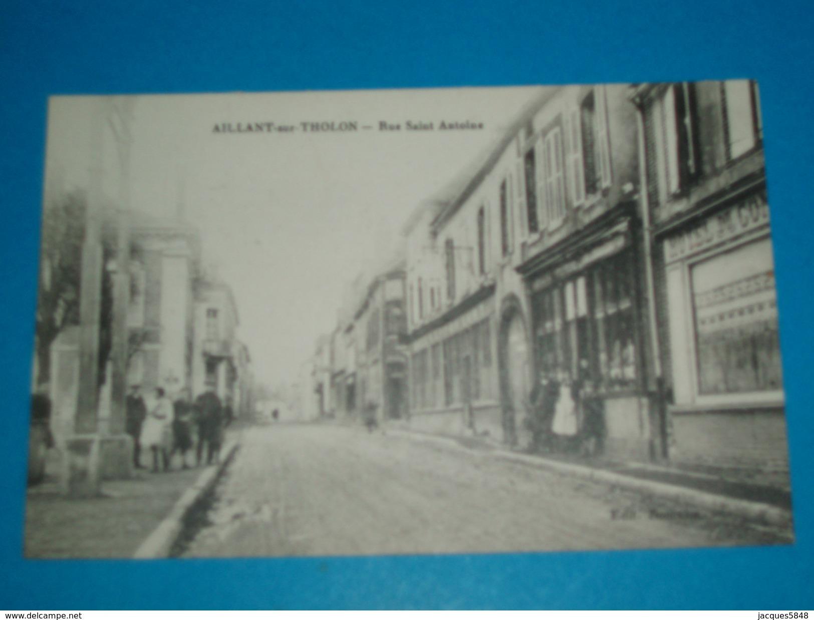 89 ) Aillant-sur-tholon - Rue Saint Antoine  - Année - EDIT : Roncelin - Aillant Sur Tholon