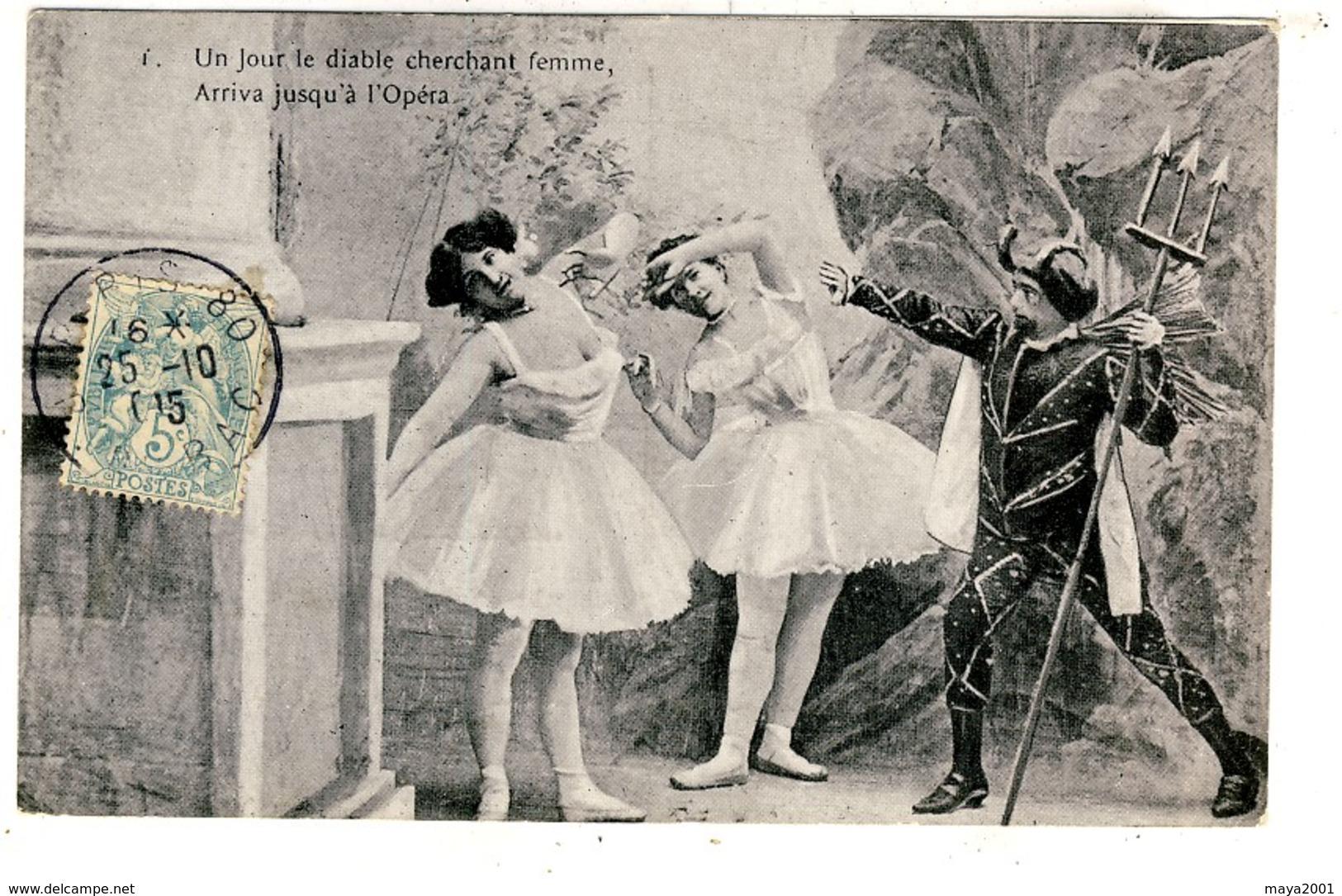 LOT  DE 20 CARTES  POSTALES  ANCIENNES  THEMES  SUR  LES  DIABLES  N28 - Cartes Postales