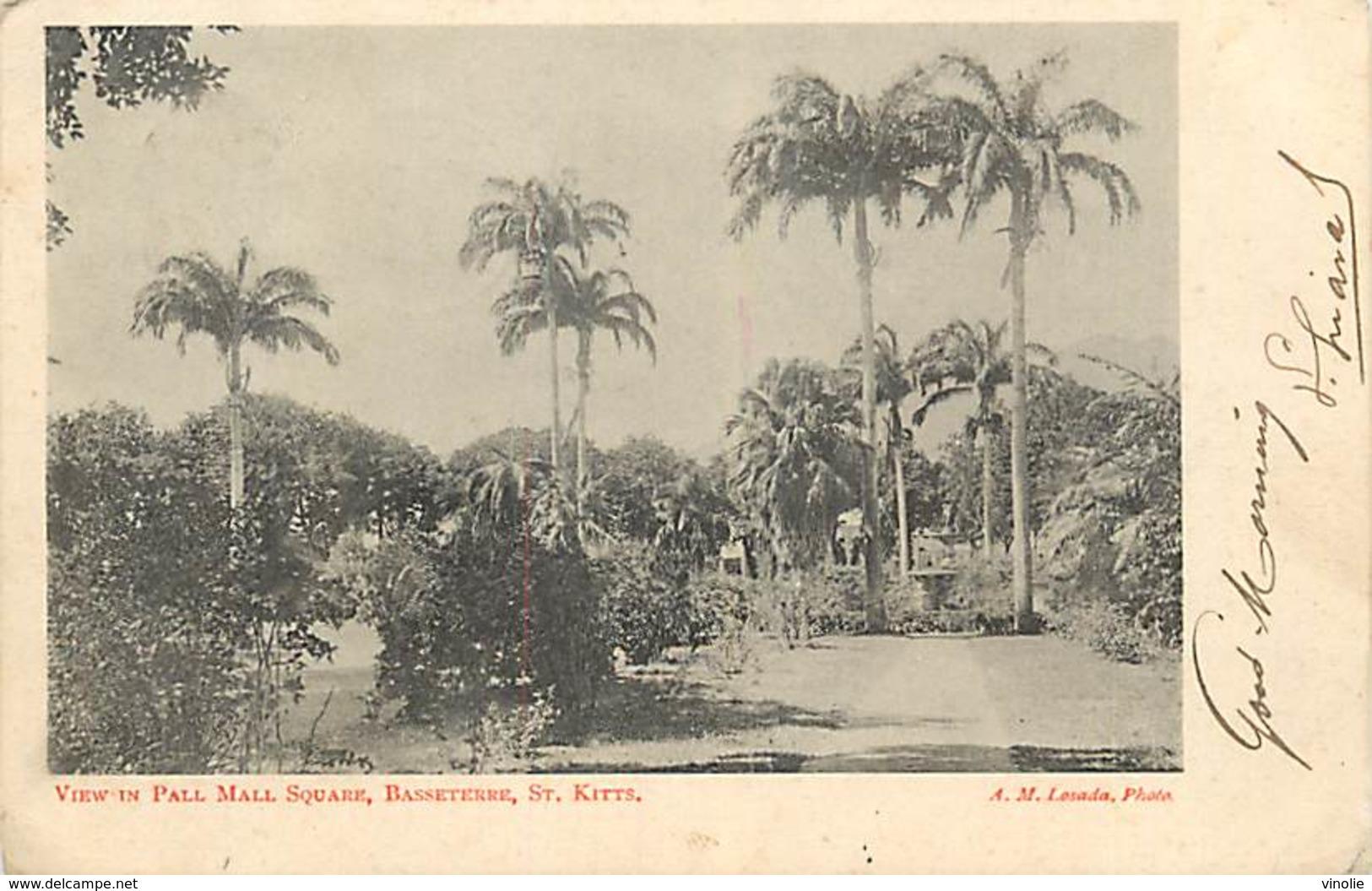 A-17-1276 : LEEWARDS ISLAND  VIEW IN PALL MALL SQUARE BASSETERRE SAINT KITTS - Antilles Neérlandaises