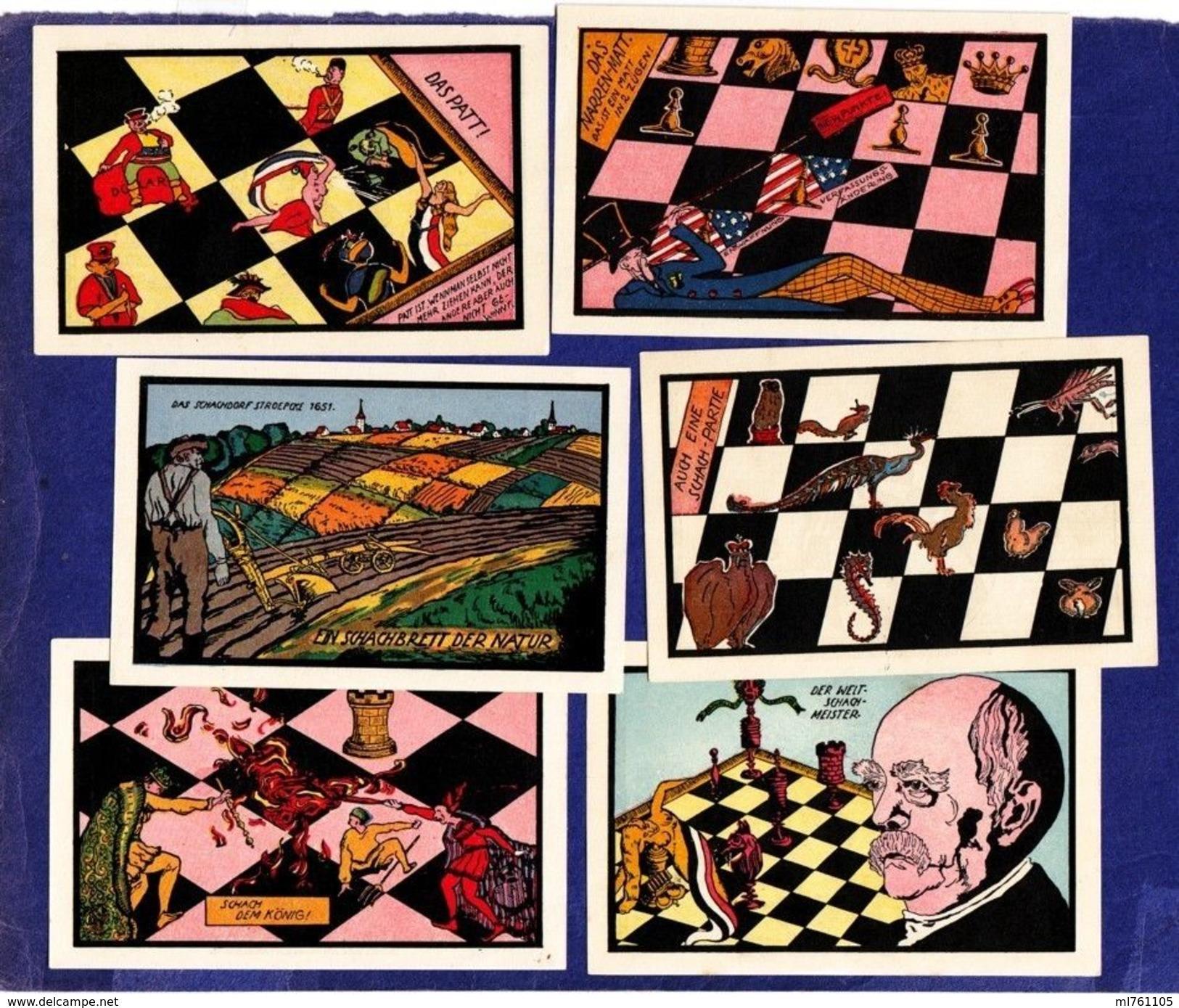 Chess Echecs Notgelds Germany Stroebeck 6 Pieces - [ 4] 1933-1945: Derde Rijk