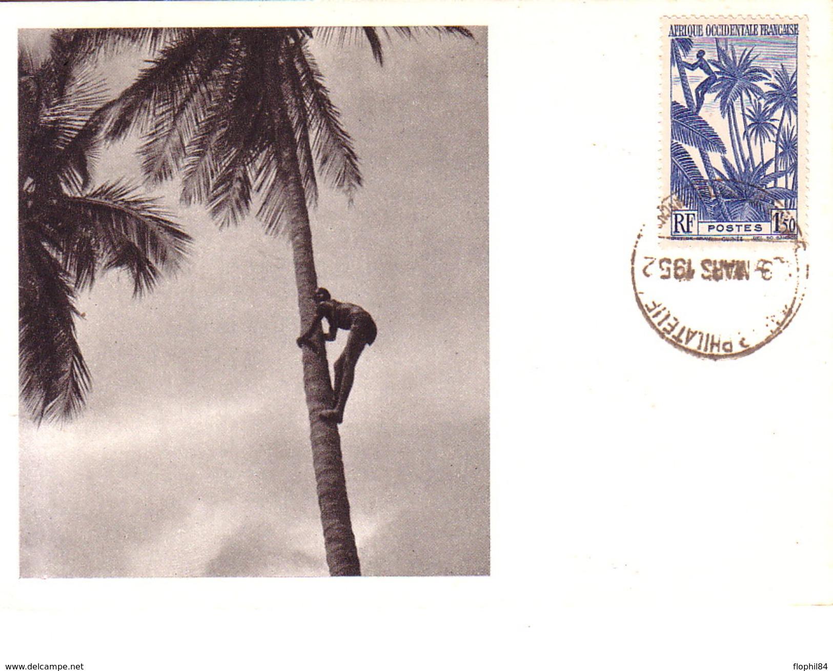 AOF - GUINEE FRANCAISE - IONYL - CARTE MAXIMUM - GUINEE - RECOLTE DES NOIX DE COCOS. - Soudan (1954-...)