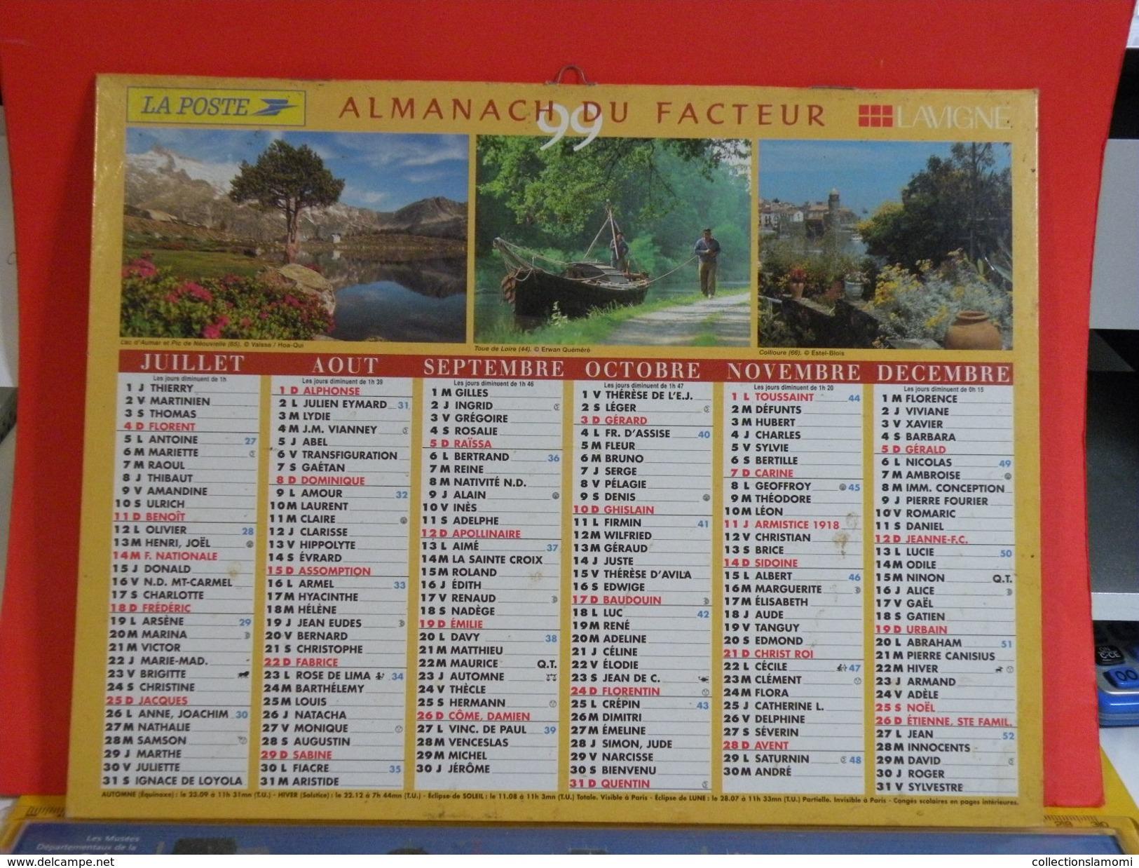Calendrier > Lavigne La Fin D'un Siècle à L'autre - Almanach Des P.T.T. 1999 - Vendu En état - Grand Format : 1991-00