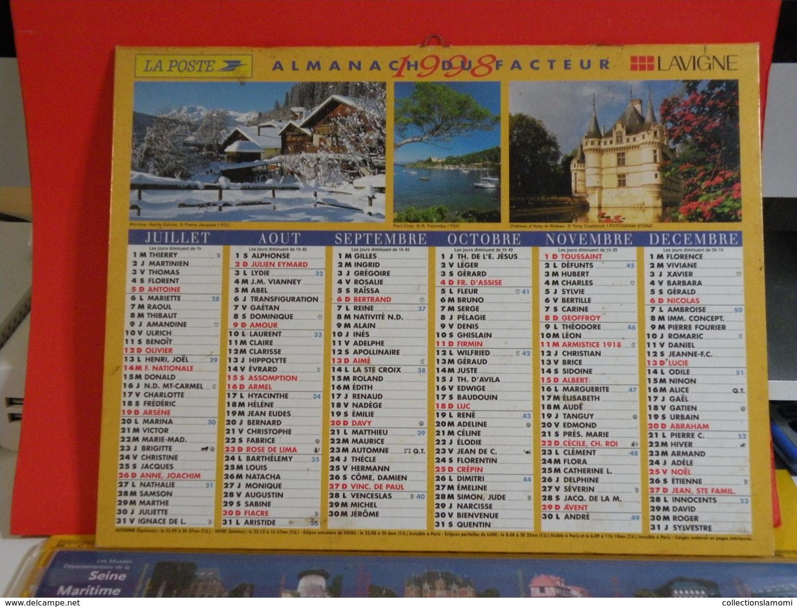 Calendrier > Nos Amis Chat Chien, Paysages De France - Almanach Des P.T.T. 1998 - Vendu En état - Calendriers