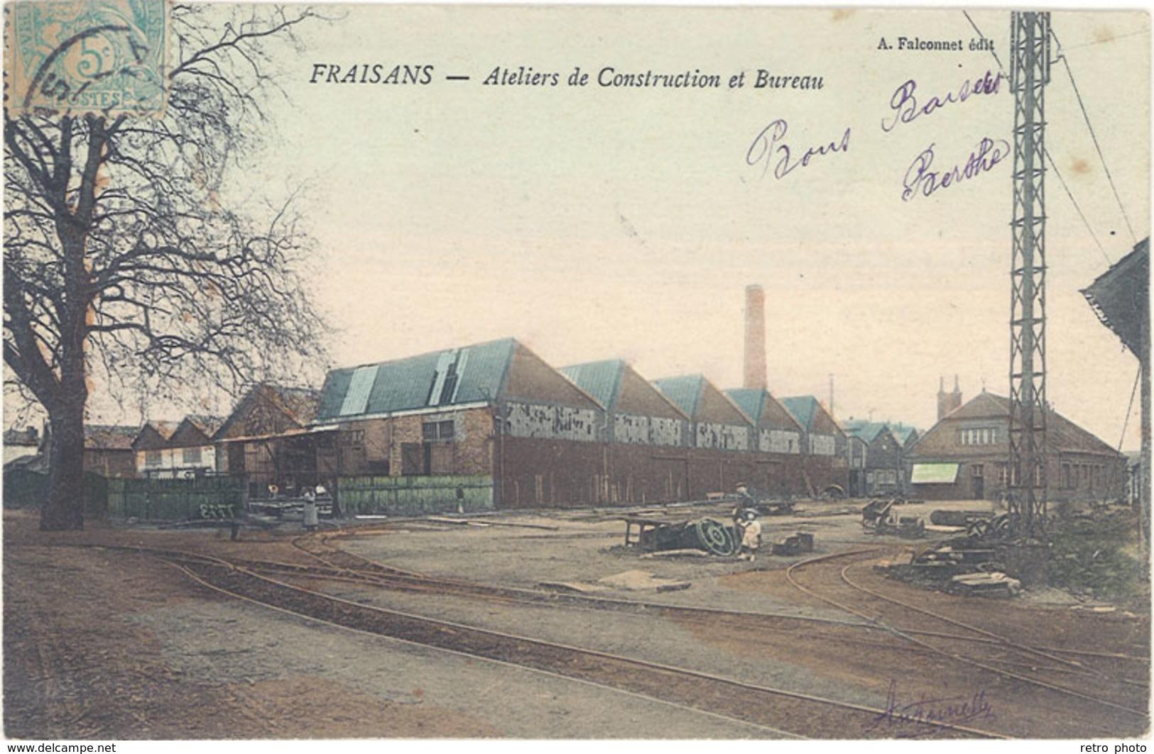 Cpa 39 – Fraisans – Ateliers De Construction Et Bureau - France