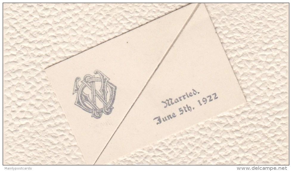AL31 Wedding Announcement Of Nellie Wilkins, June 1922 - Boda