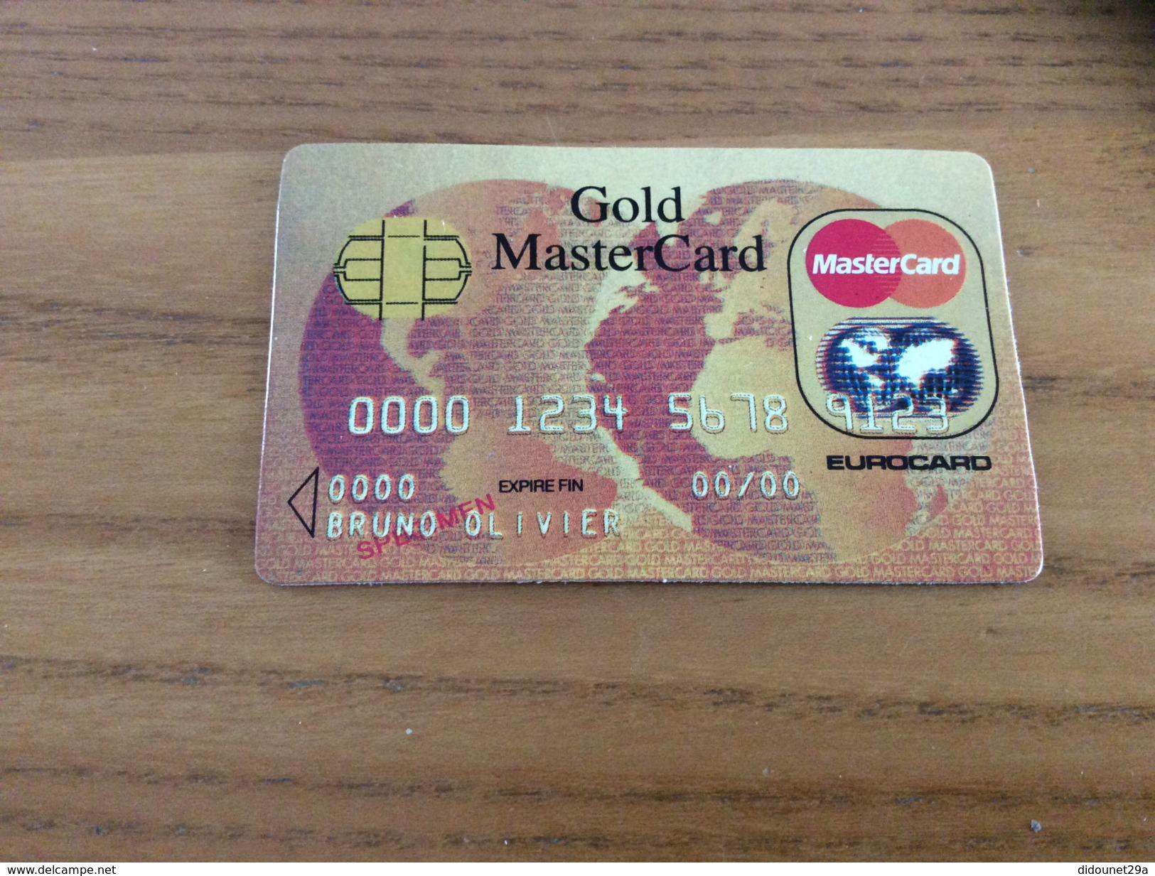"""Carte Gold MasterCard Fictif """"SPÉCIMEN"""" - Cartes De Crédit (expiration Min. 10 Ans)"""