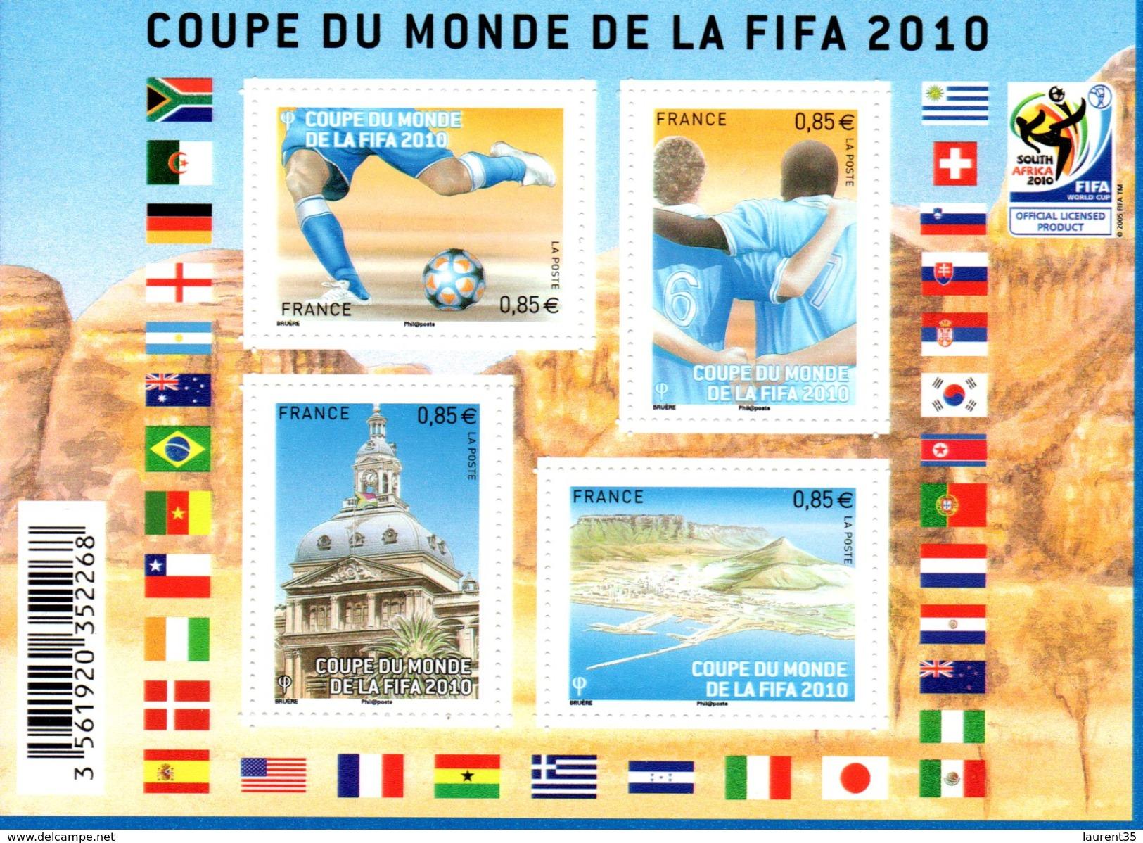 France.bloc Feuillet F4481 De 2010.coupe Du Monde Fifa.n**. - Mint/Hinged