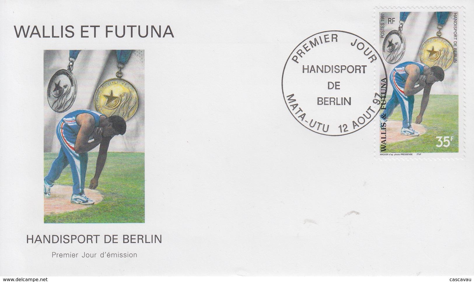 Enveloppe  FDC   1er Jour    WALLIS  ET  FUTUNA     Handisport  De  BERLIN    1997 - Handisport