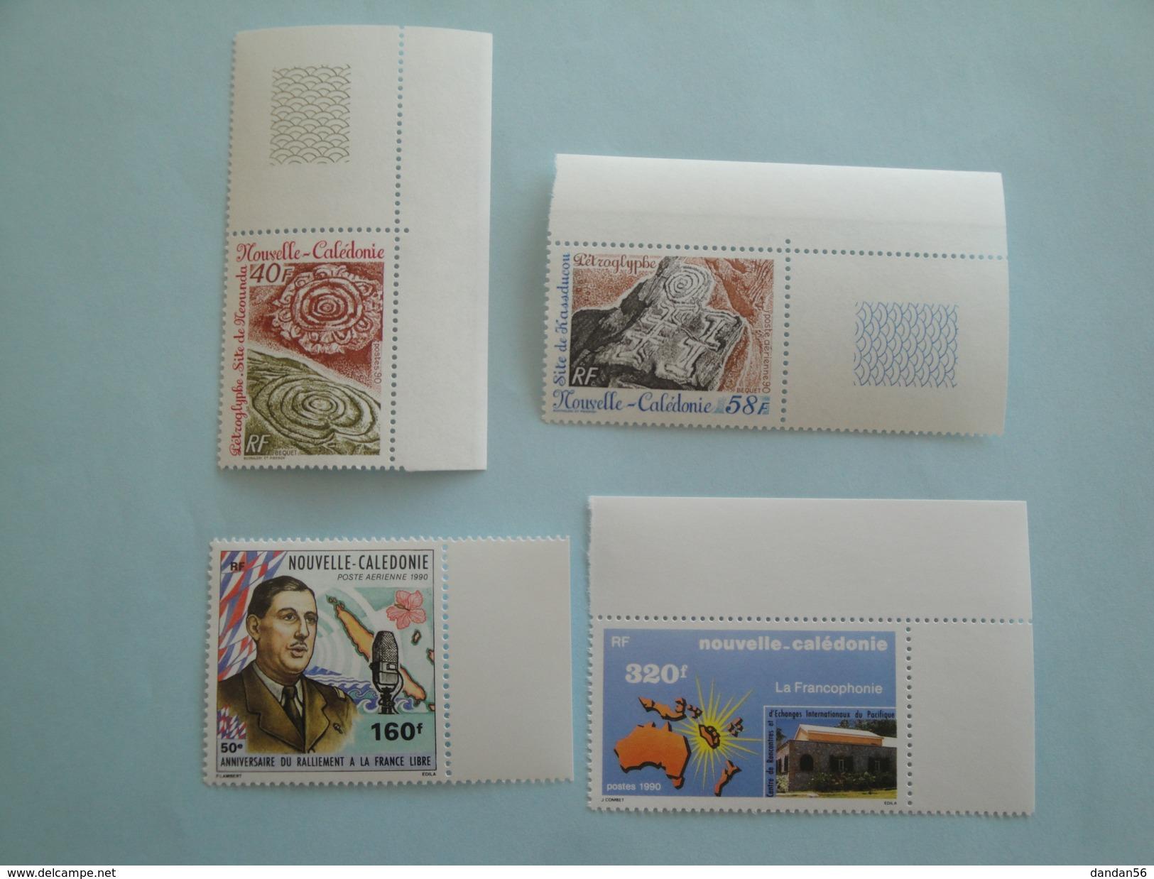 Nouvelle Calédonie 1990 Lot  Yvert 597/PA268 + 598 + PA267 ** Michel  876/9   Voir Photo - Nouvelle-Calédonie