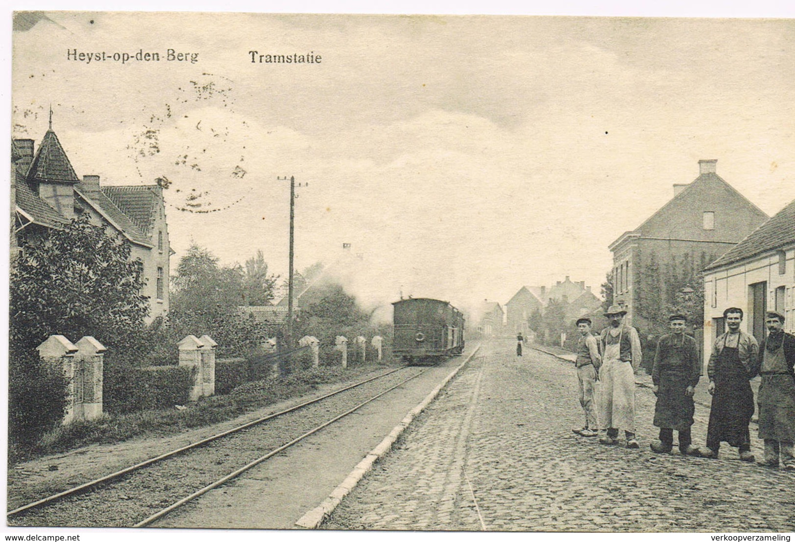 HEIST OP DE BERG Tramstatie Stoomtram Tram à Vapeur - Heist-op-den-Berg