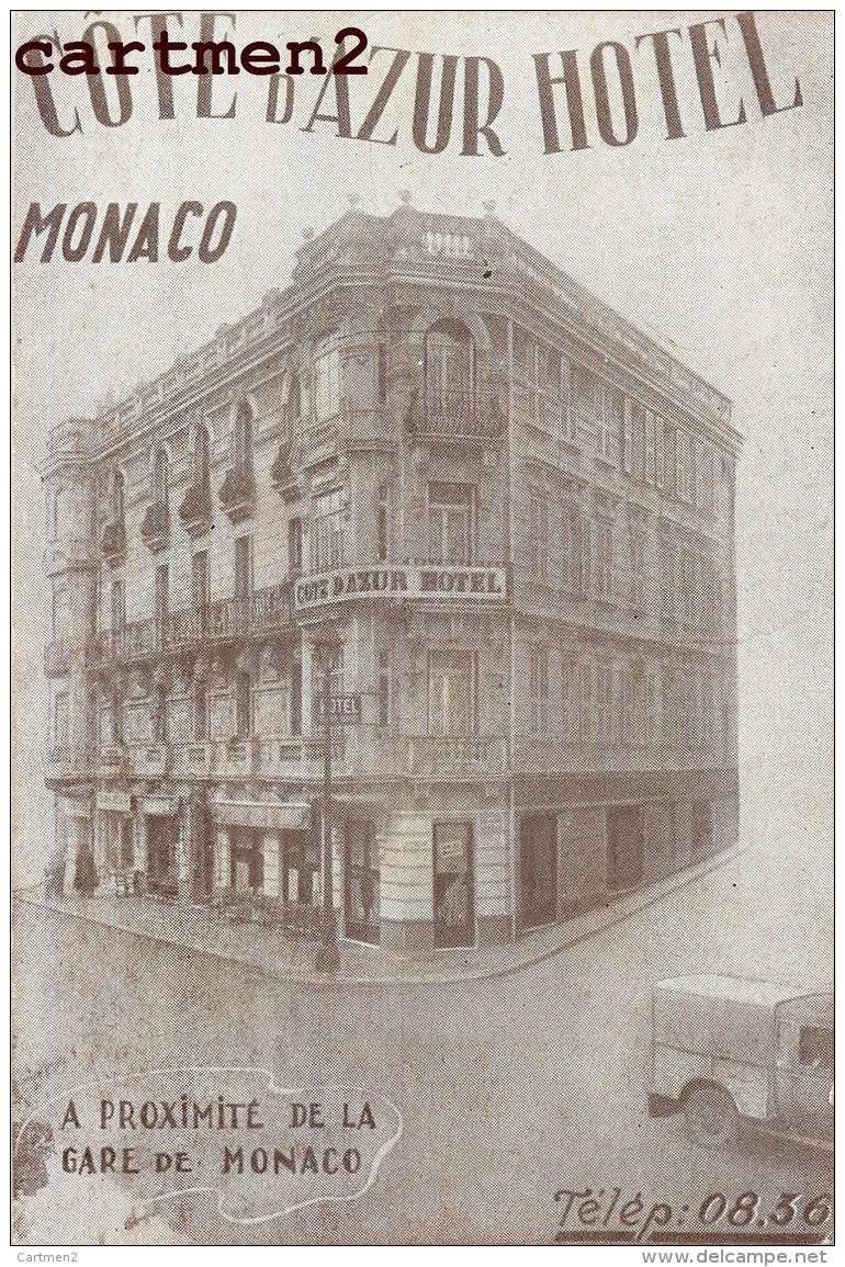 "MONACO "" COTE D'AZUR HOTEL "" PRES DE LA GARE PUBLICITE MONTE-CARLO - Monaco"