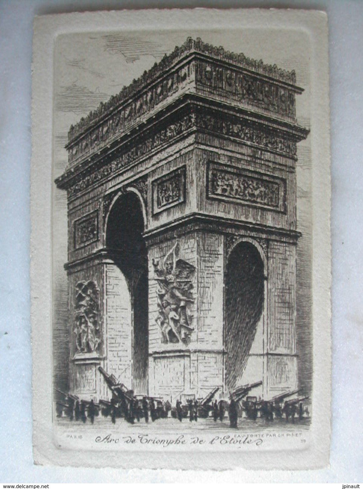 TABLEAUX - Ch. PINET - Eau Forte - Arc De Triomphe De L'Etoile - Pittura & Quadri