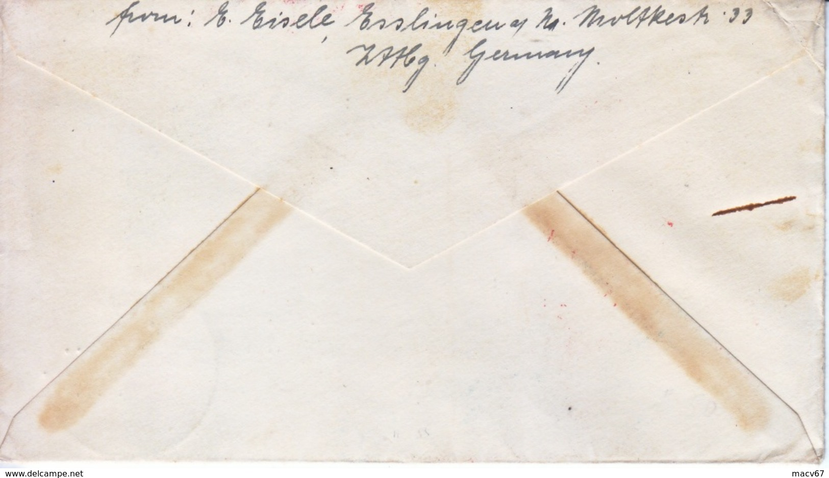 GERMANY  HINDENBURG  FLOWN  COVER  OLYMPICS - Airmail