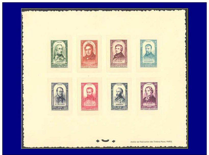 Qualité: EPL – 795/802, épreuve Collective, (tirage 25): Célébrités,... - Stamps