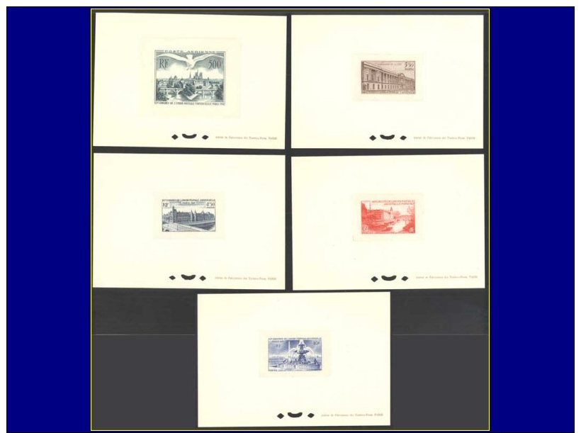 Qualité: EPL – 780/83 + Pa. 20, 5 épreuves Petit Format: Congrès Upu. - Stamps