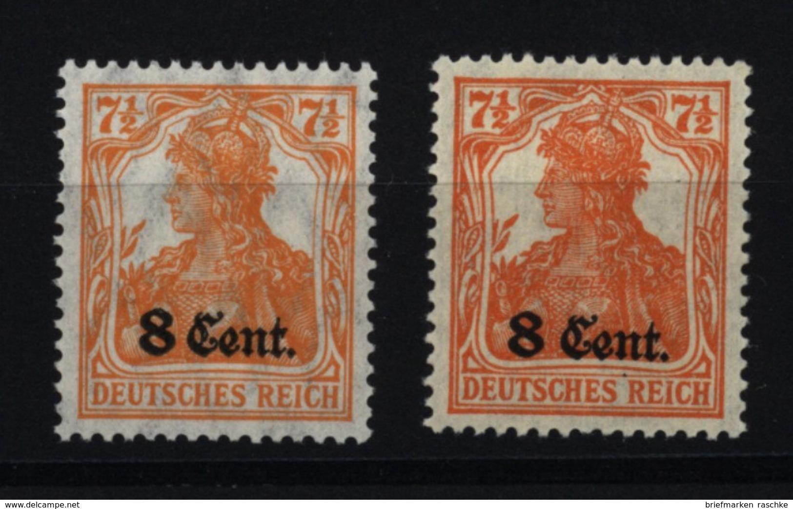 Etappe West,3a,b Mit Falz - Besetzungen 1914-18