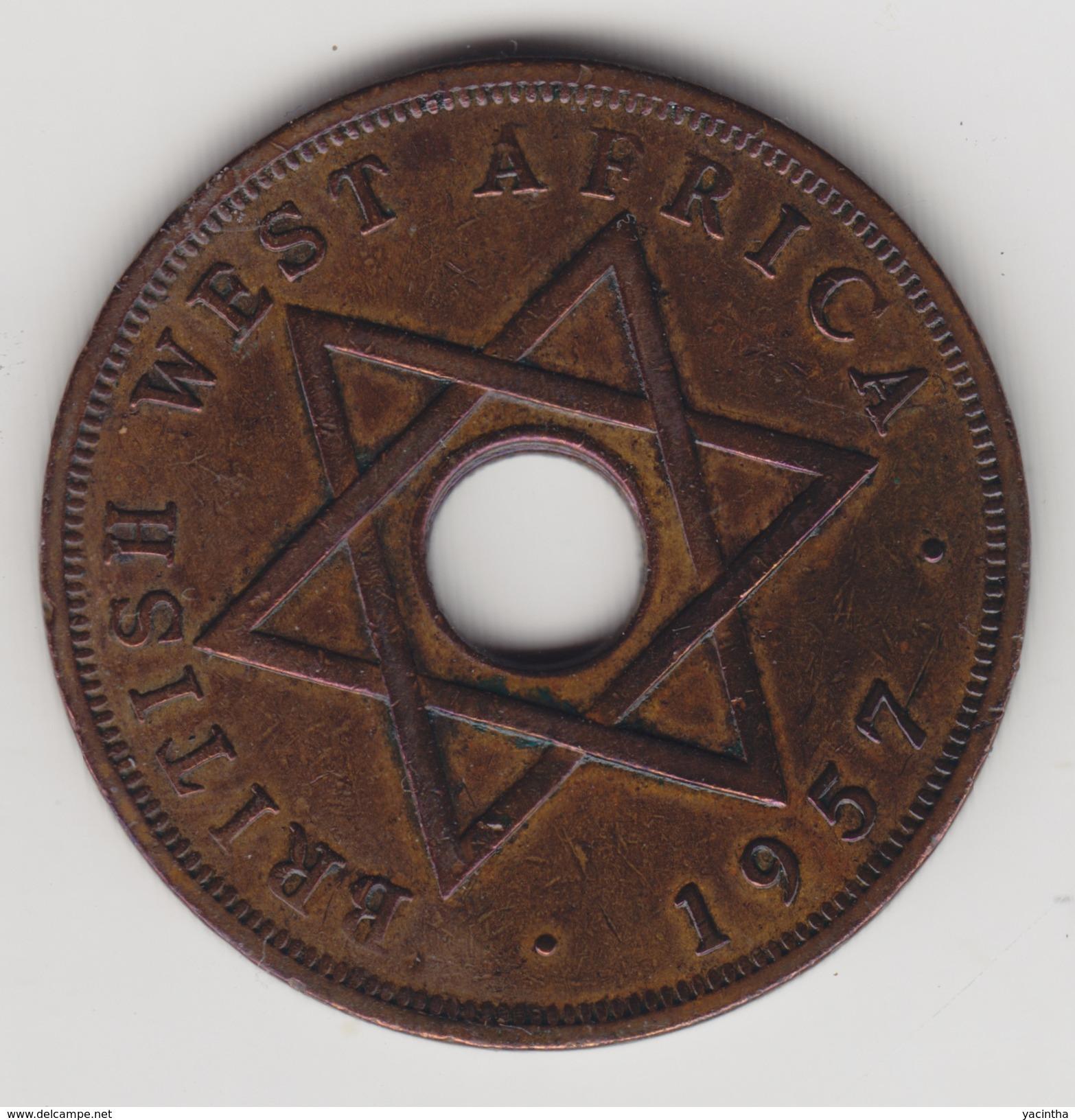 @Y@  Brits West Afrika     1 Penny  1957   (4440) - Monnaies
