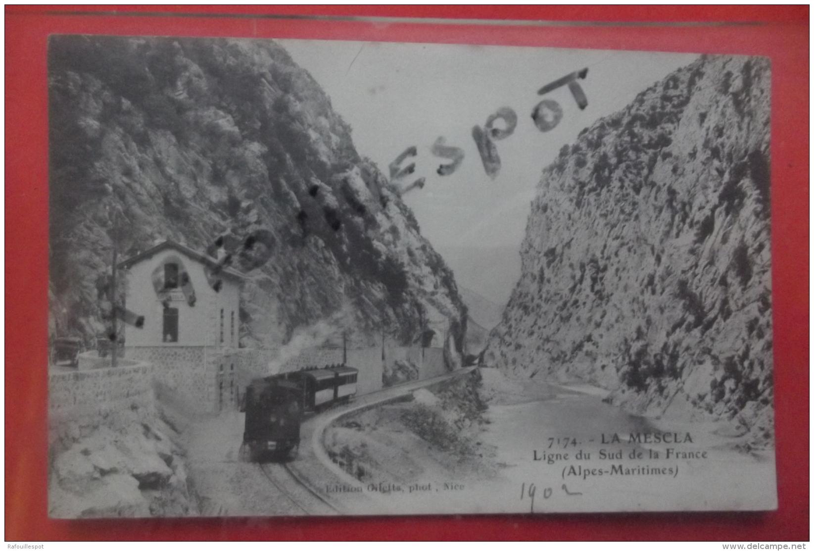 Cp La Mescla Ligne Du Sud De La France Animé N 7174 - Autres Communes