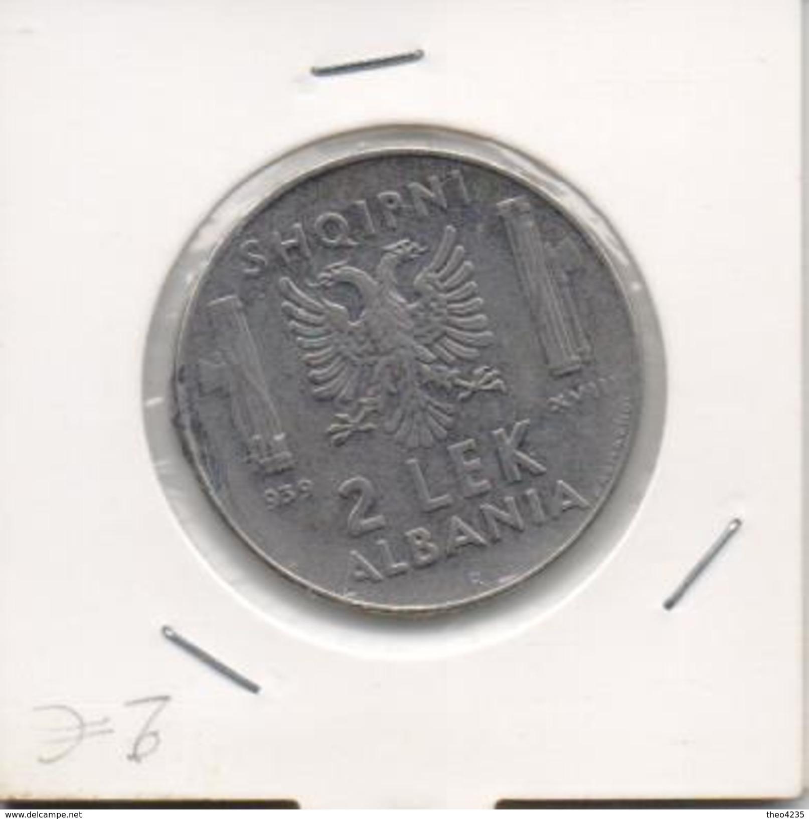 ALBANIA COIN 2 LEK 1939(italian Occupation)- USED AS SCAN - Albanie