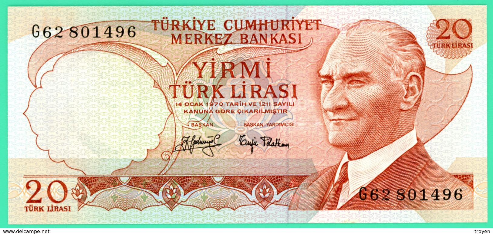 20 Lirasi - Turquie - N° G62801496 - Spl - - Turquie
