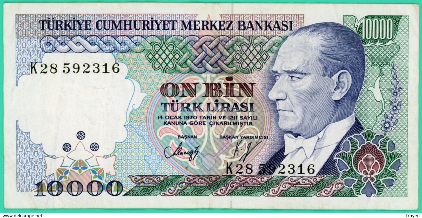 10000 Lirasi - Turquie - N° K28592316 -  TTB+- 1970 - - Turquie
