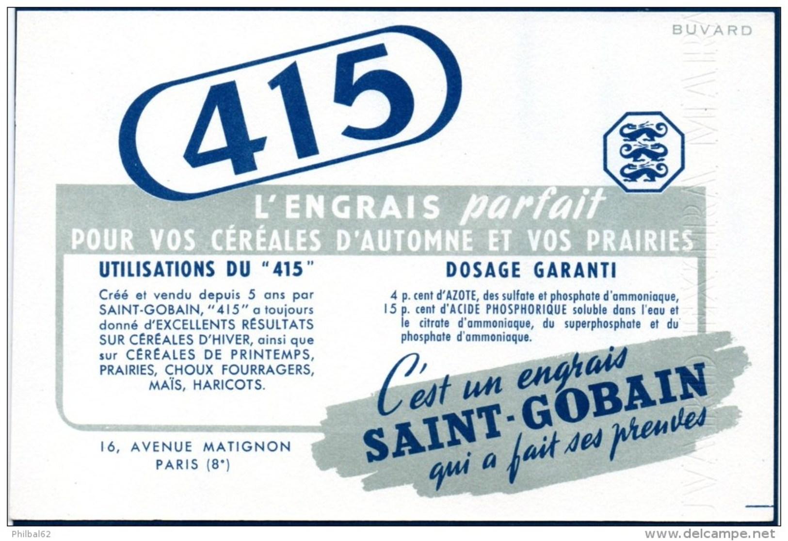Buvard : Engrais De Saint-Gobain, Engrais Pour Céréales : Le 415 - Agriculture